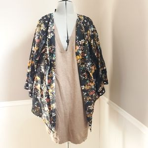 Anthropologie Meadow Rue floral kimono duster